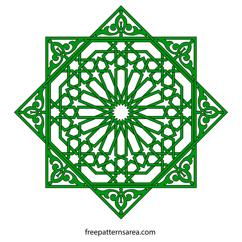 graphic library Geometric Islamic Ornament Art Vector Patterns