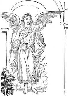 black and white stock  best lineart angels. Archangel drawing standing