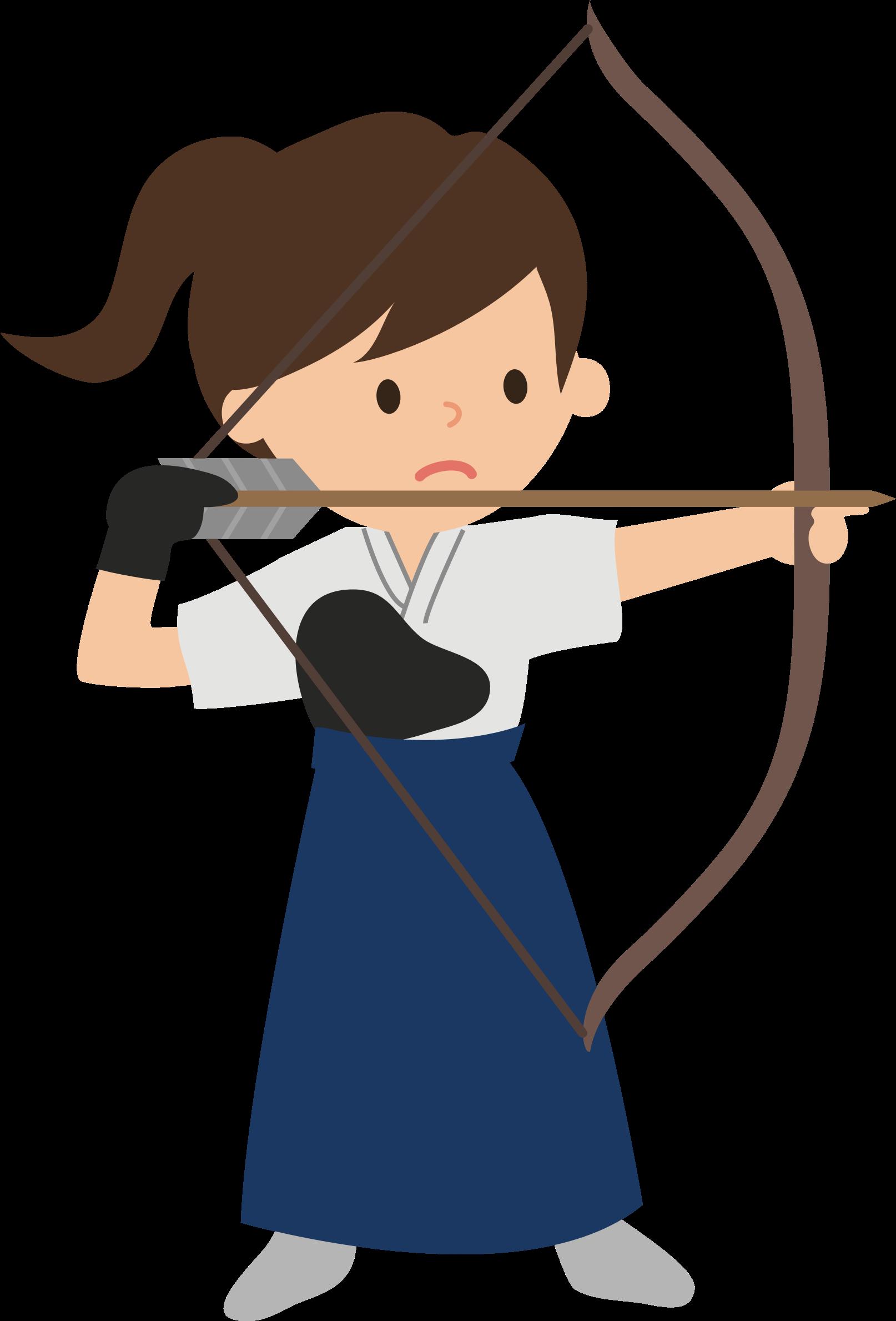 clipart Archery clipart. Female archer big image