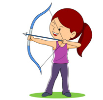 png transparent download Free female archer cliparts. Archery clipart