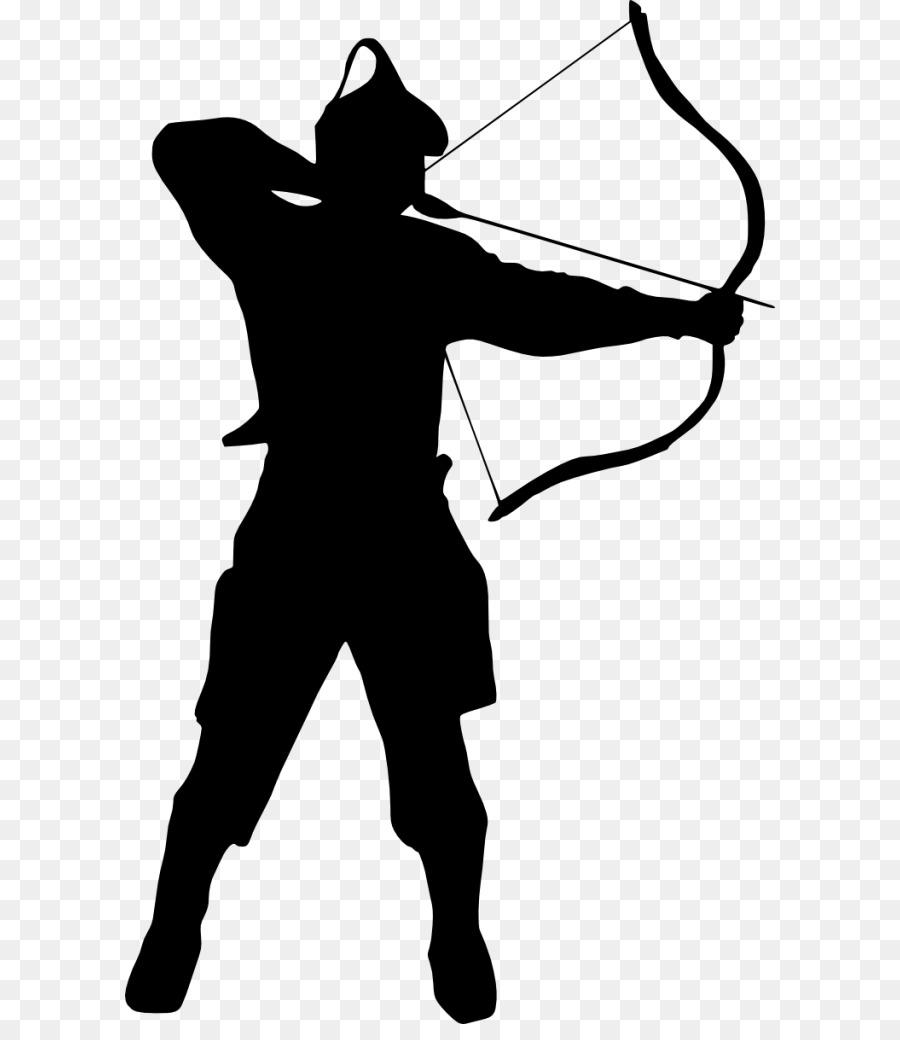 clipart Silhouette . Archer clipart.