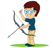 png transparent download Archery clipart. Free female archer cliparts