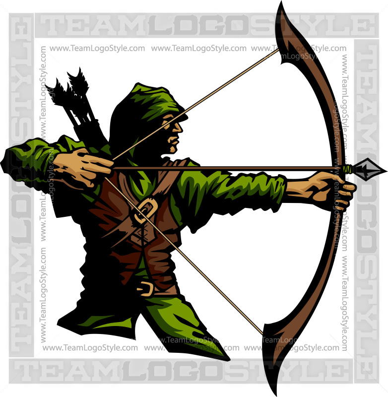 clip art Vector . Archer clipart.