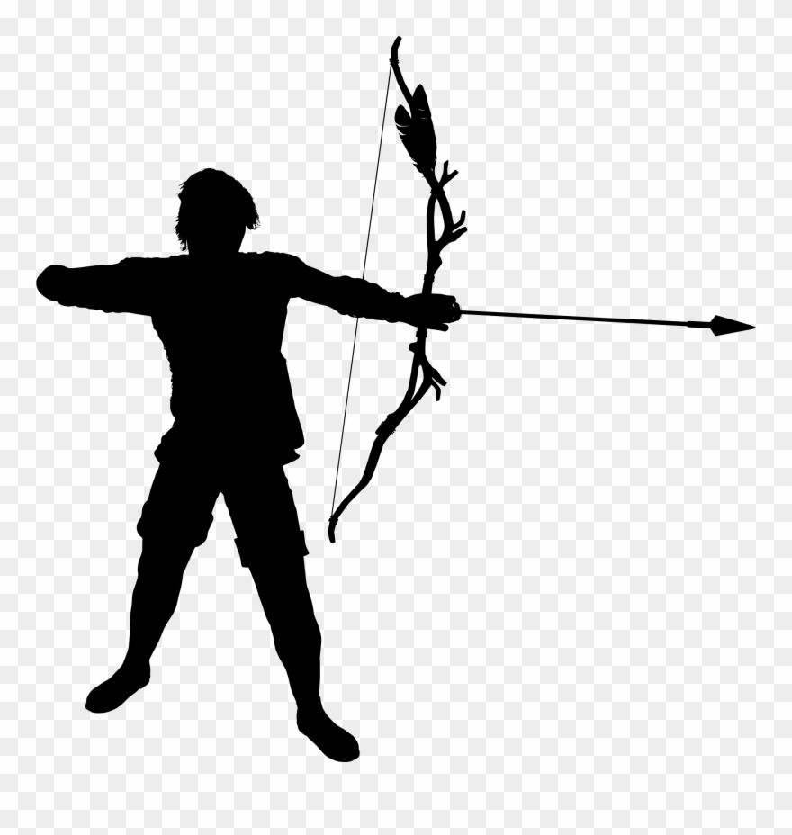 picture free stock Archer clipart. Image transparent warrior silhouette.