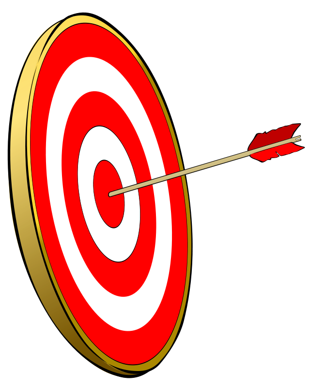 jpg black and white Transparent target medieval. Archery clipart bulls eye
