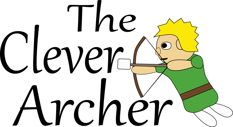 freeuse stock Clever freedom in christ. Archer clipart archery tag