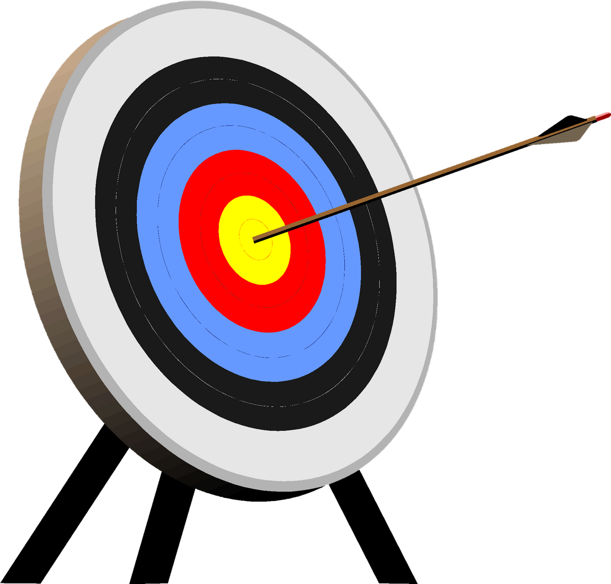 picture free stock Gun target clipart. Archery shooting arrow clip