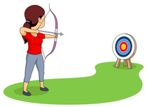 banner library stock Free cliparts download clip. Archery clipart.