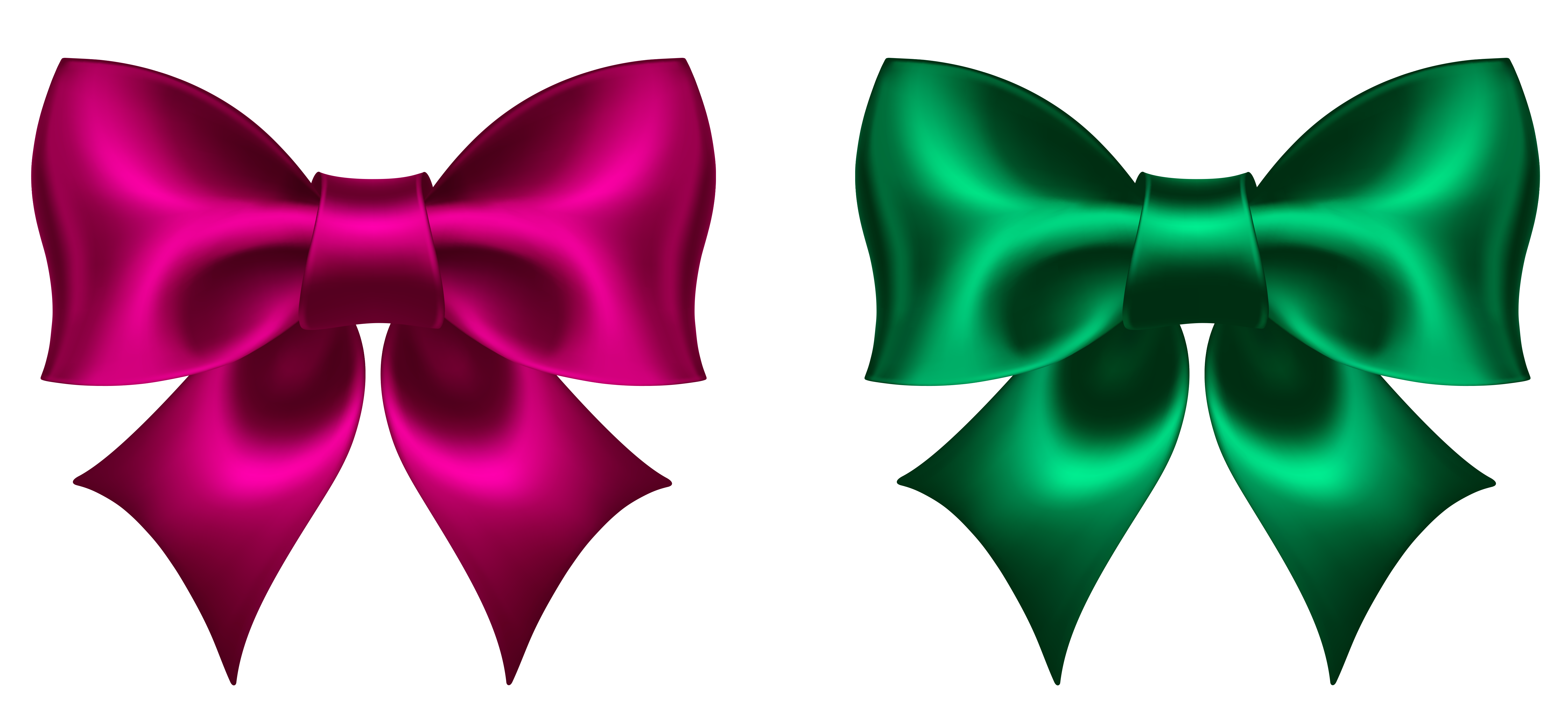 graphic transparent library Pink and green picture. Bow clipart png.
