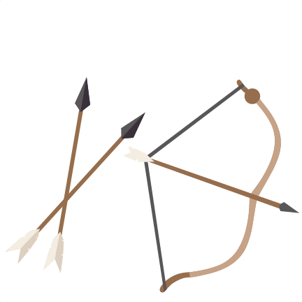 vector stock Bow and arrow clipart. Archery silhouette free on