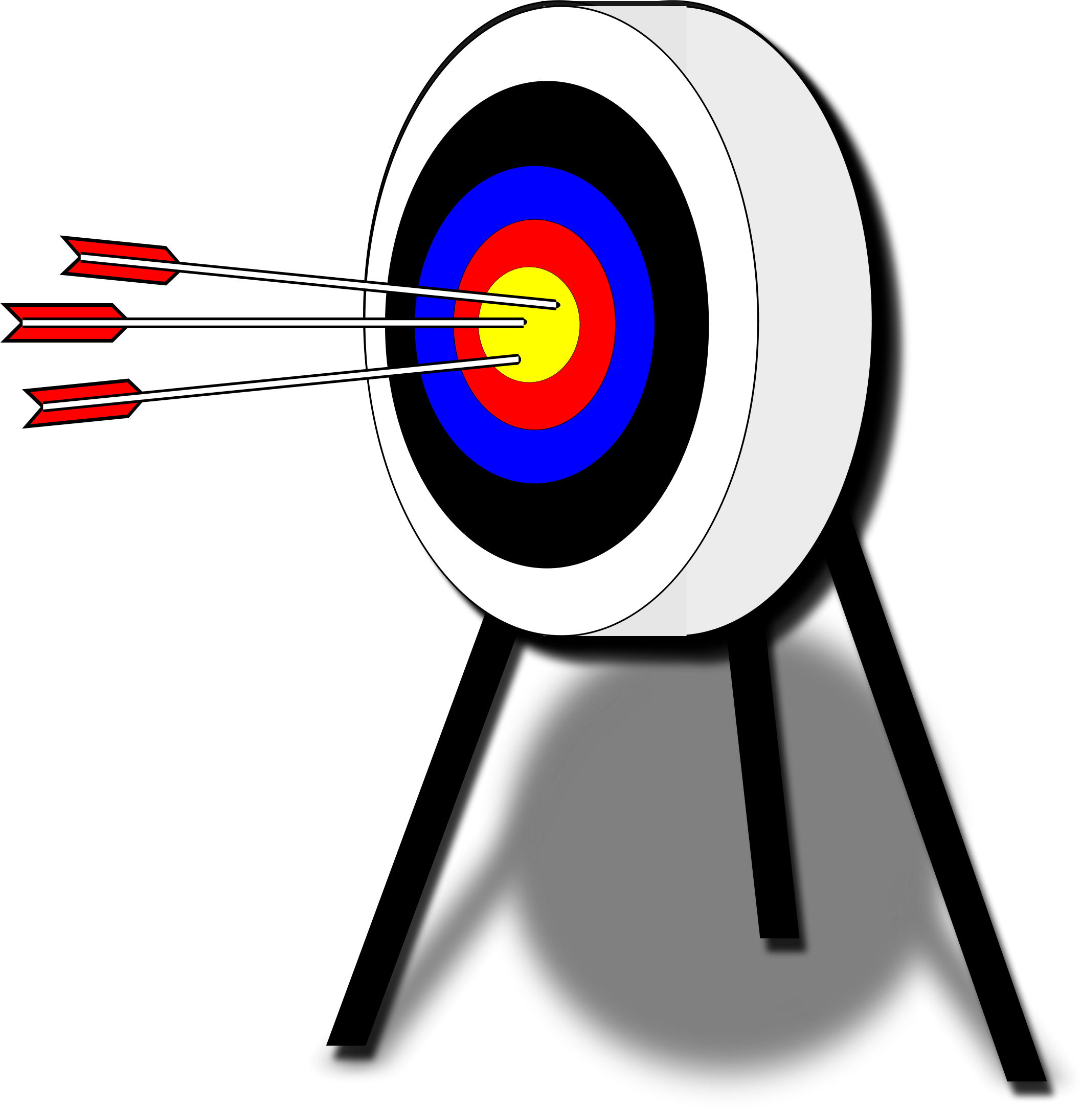 vector royalty free library Archery target big image. Bullseye clipart clip art