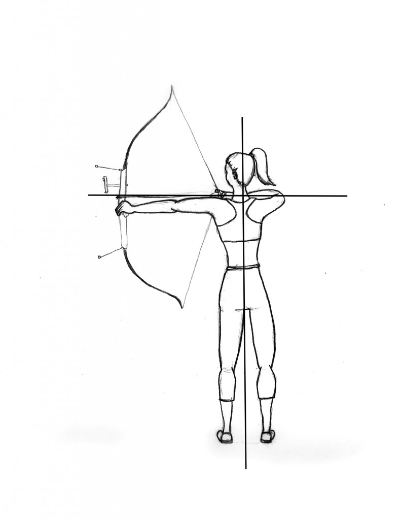 freeuse stock Archery drawing. How to draw a.
