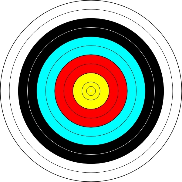 picture stock Clip art free vector. Archery target clipart