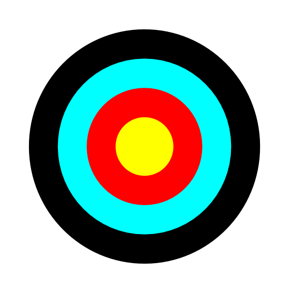 svg freeuse stock  archery clipart bullseye. Transparent target printable