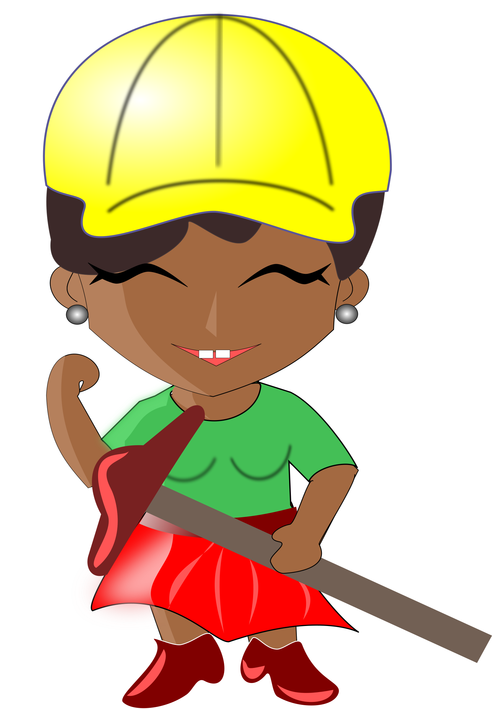 black and white Architect clipart. African lady big image