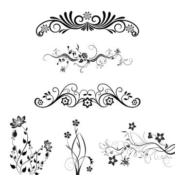 svg royalty free stock Floral ornaments png images. Vector color ornament
