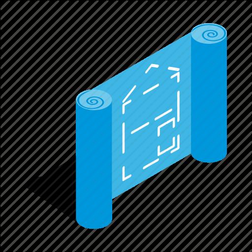 graphic transparent Isometric by ivan ryabokon. Architecture vector blueprint