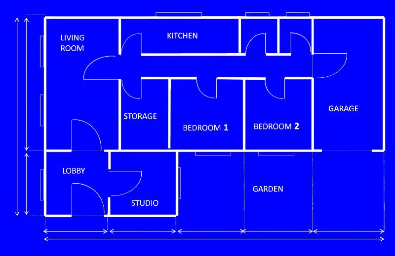 banner stock Architecture vector blueprint. Imagict blue house blueprints