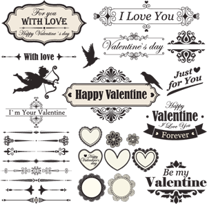 clip art freeuse download Valentine vector vintage. Logo vectors free download