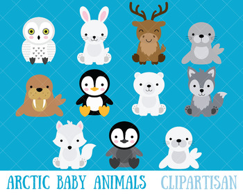 clip art black and white stock Arctic animal clipart. Animals clip art polar