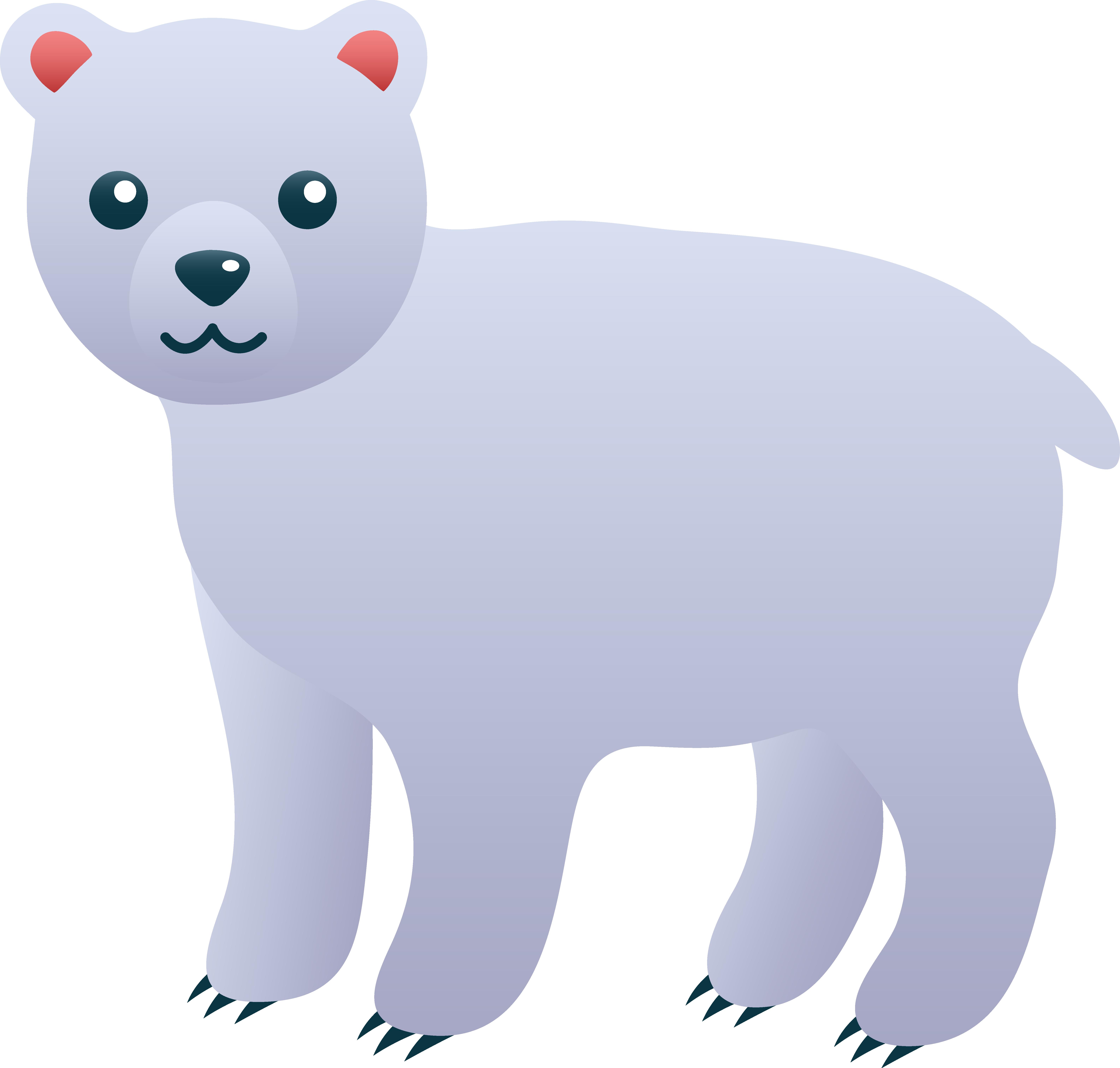 svg Arctic animal clipart. Cute polar bear clip