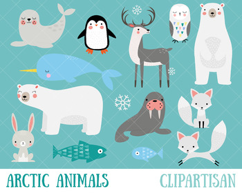 clip art black and white stock Animals clip art polar. Arctic animal clipart