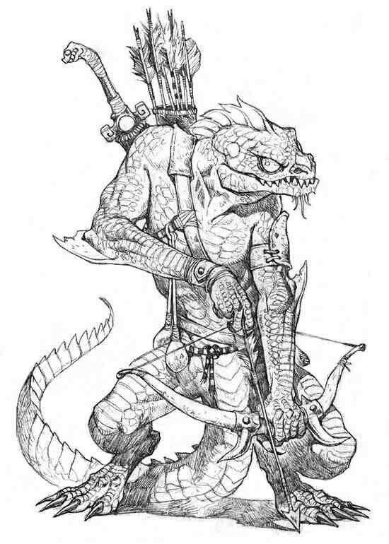 image download Character art fantasy sketches. Argonian drawing
