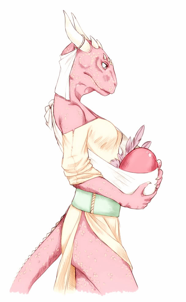 image royalty free stock Argonian Mother Color by Pezzei on DeviantArt
