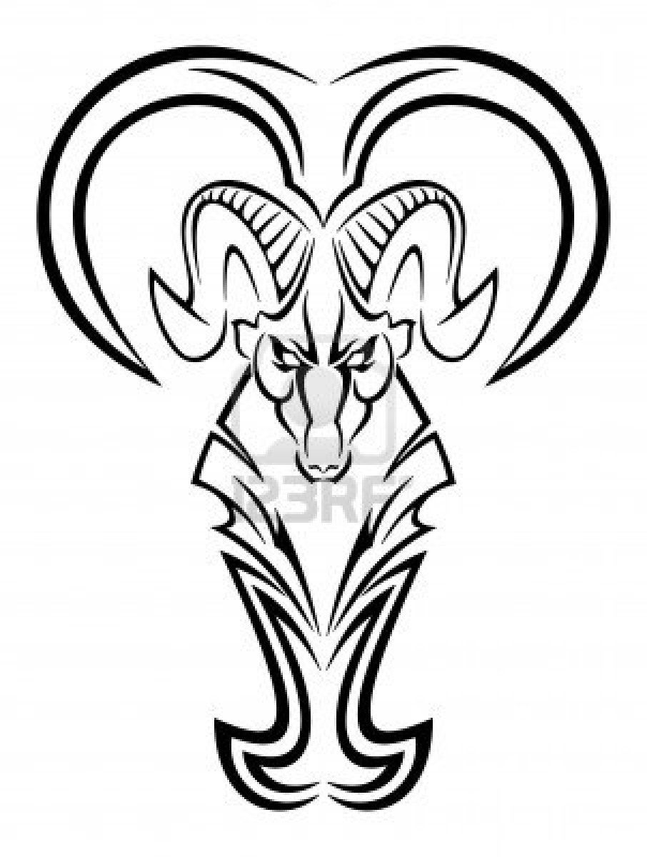 png transparent library Aries drawing tribal. Zodiac tattoo design for