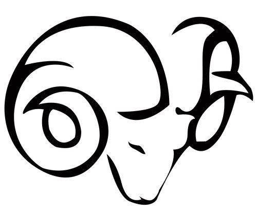 clip art black and white Tattoo designs s zodiac. Aries drawing tribal