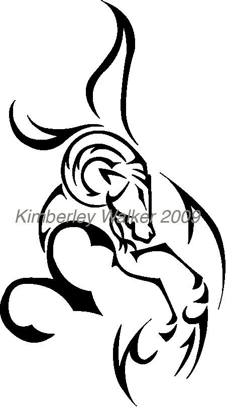 clip royalty free stock Aries drawing tribal. Tattoo zodiac tattoos pisces