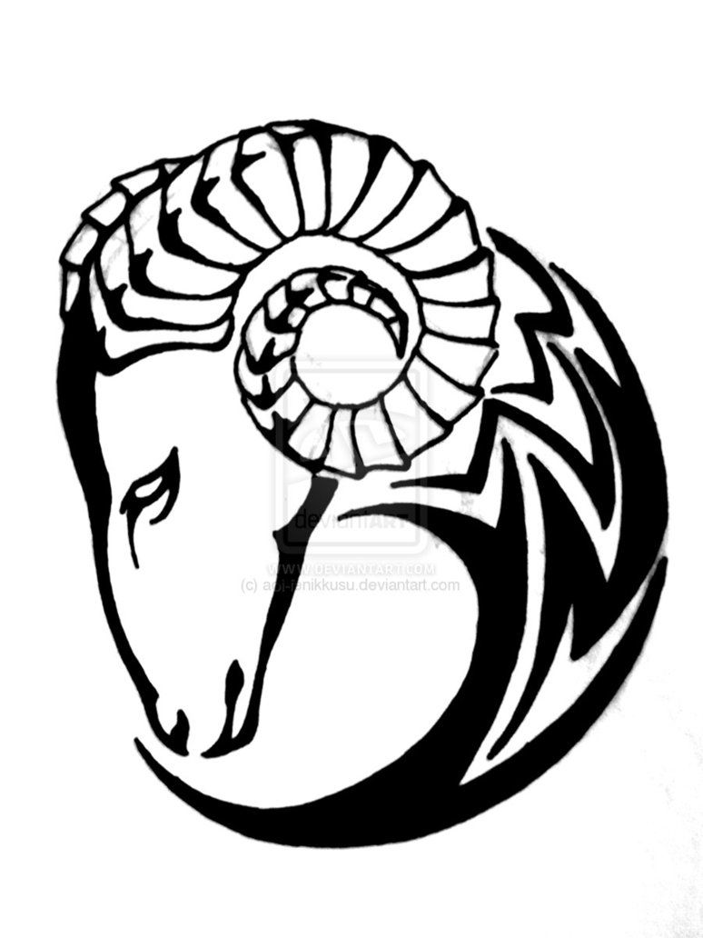 clip transparent library Aries drawing tribal. Collection of clipart free
