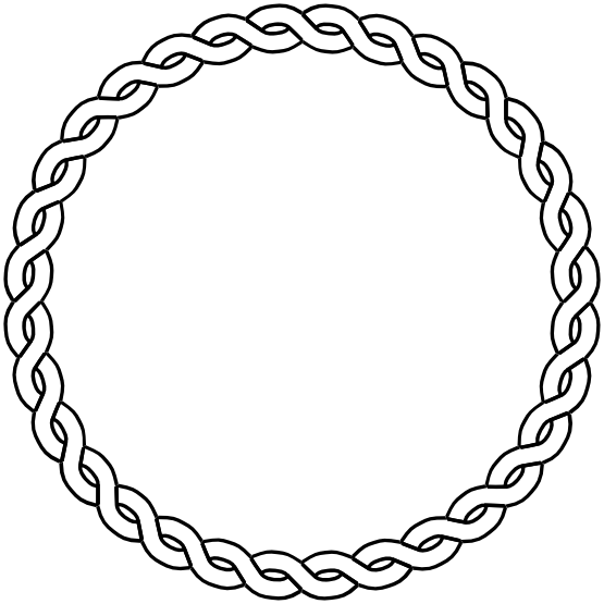 clipart stock Rope border circle dna. Arm circles clipart