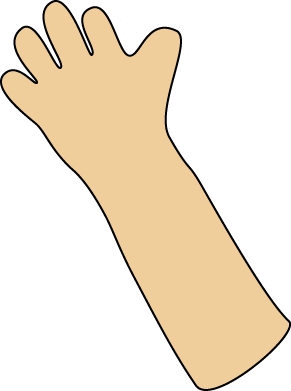clip stock Arms transparent. Clipart hand waving animated