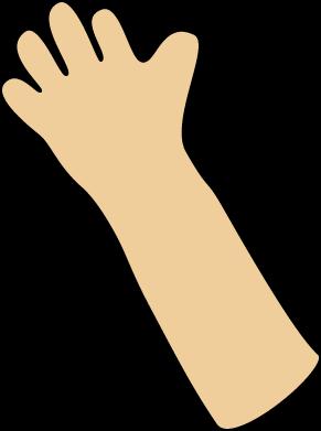 image transparent Hand waving animated panda. Arm clipart arm span.