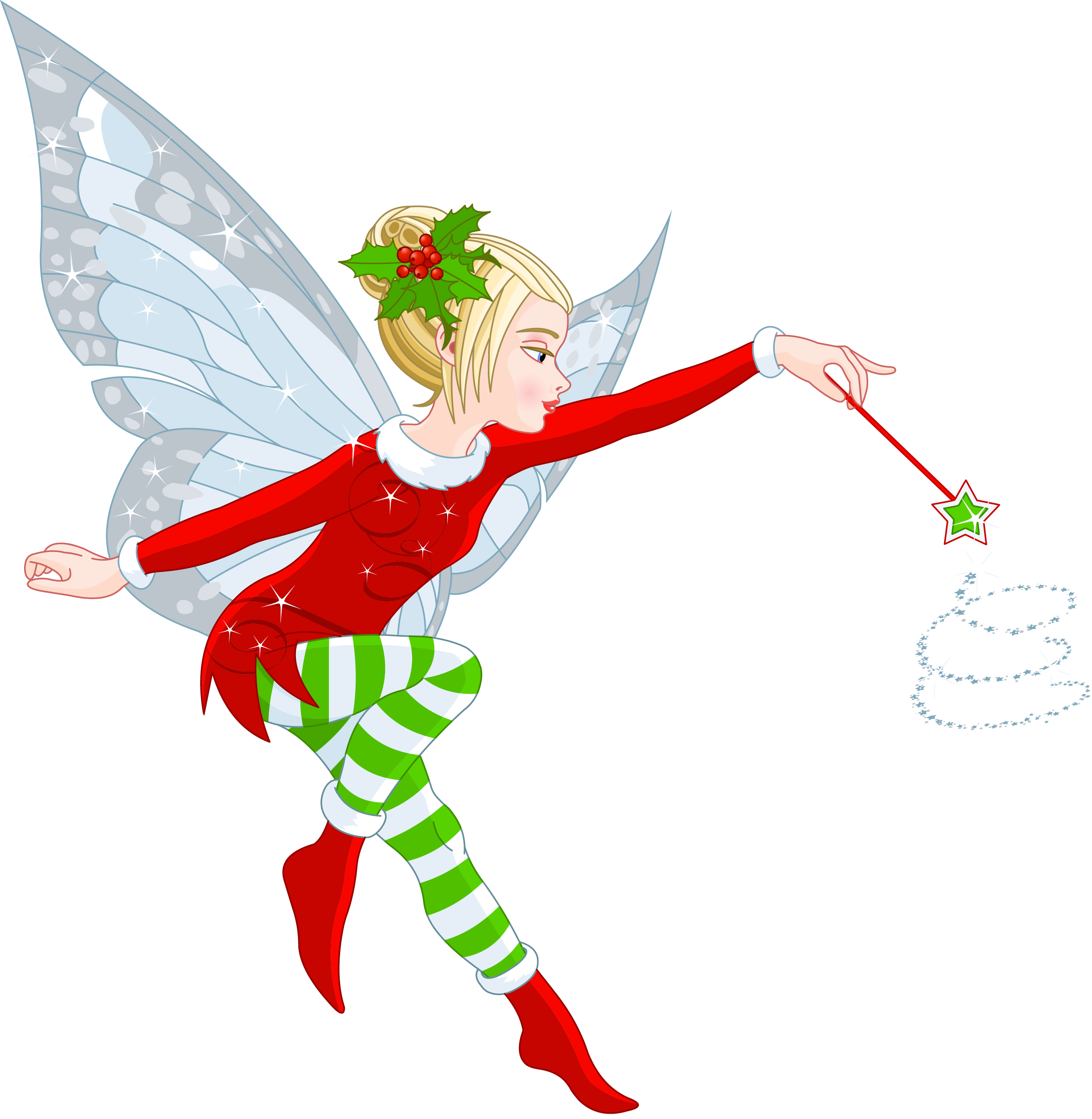 clip art royalty free Fairy transparent christmas. Elf girl png clipart