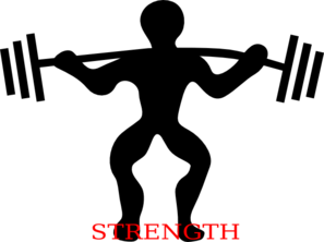 graphic royalty free library Arm clipart muscular power. Squat strength clip art.