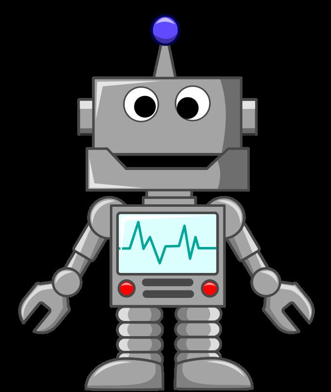 banner black and white Robotics Clipart