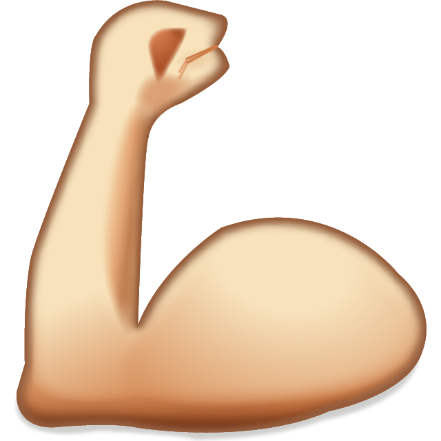 clip freeuse library Download muscles emoji icon. Arm flexing clipart.