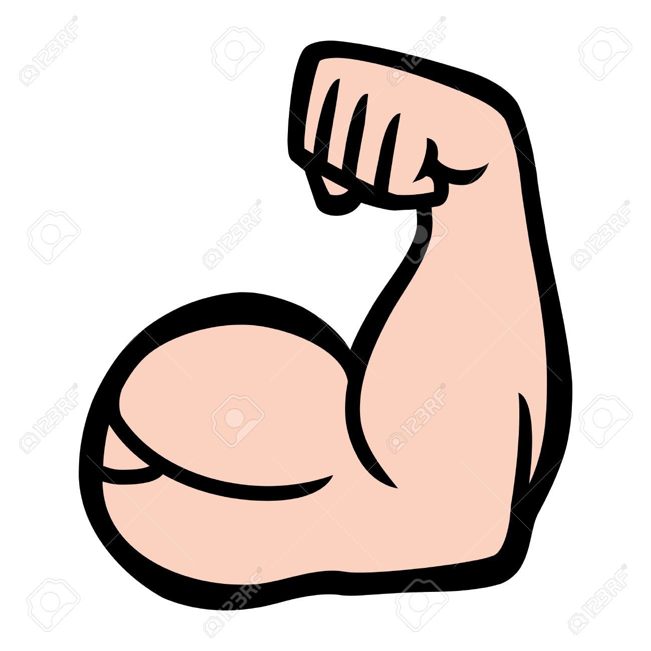 graphic royalty free download Arm flexing clipart. Flexed station .
