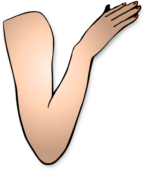 graphic freeuse stock Arm muscle clipart. Arms long hand frames.