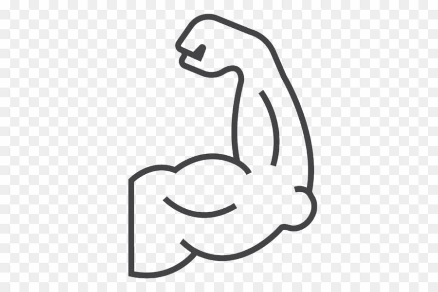 transparent Arm muscles clipart. Cartoon muscle png .