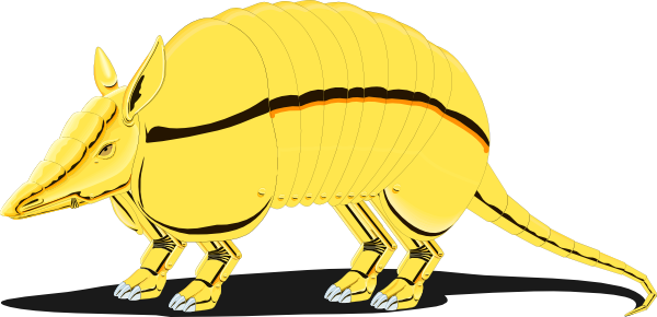 clipart library download Golden clip art at. Armadillo clipart.