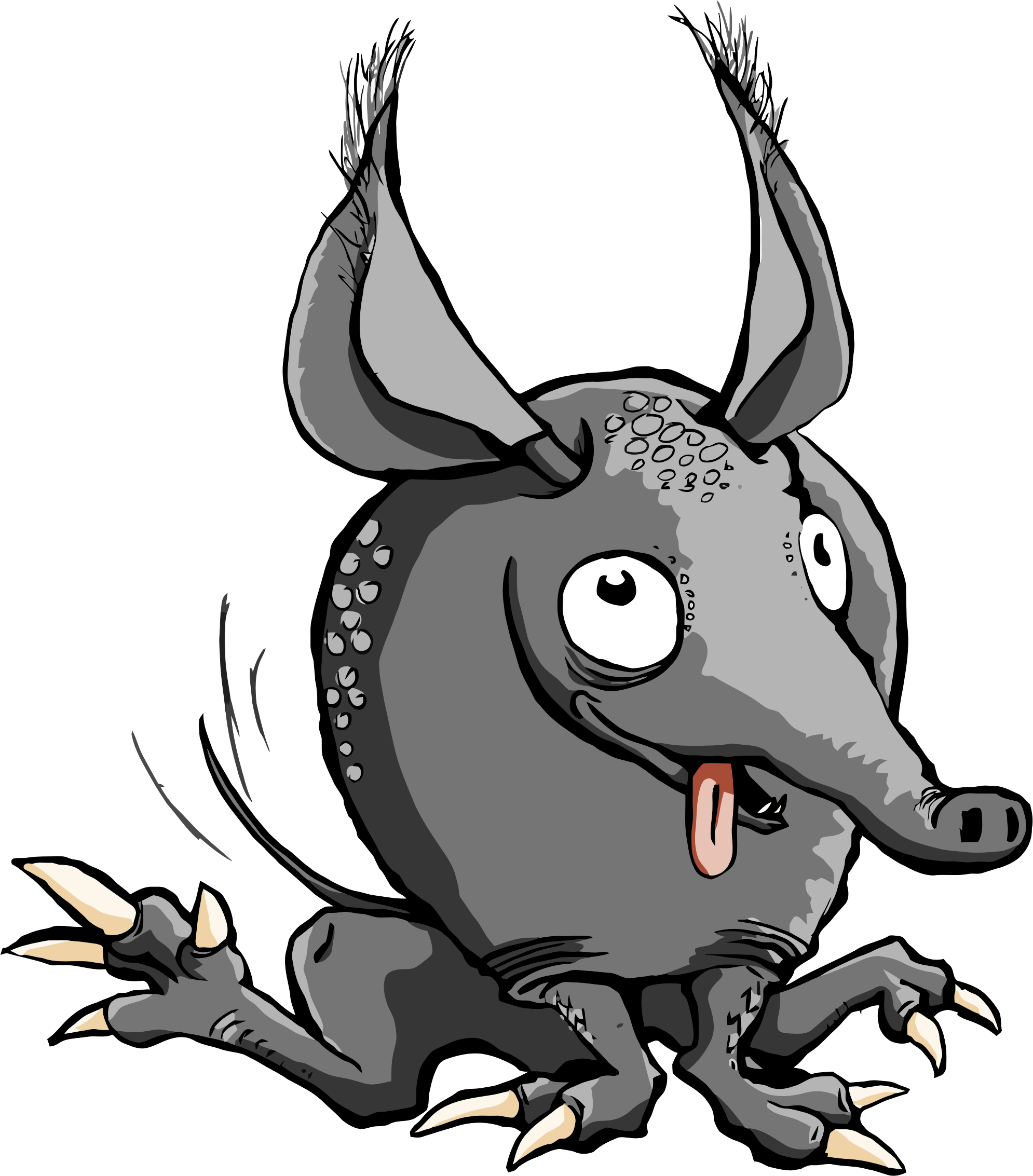 picture free library Cartoon big image png. Armadillo clipart.
