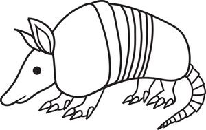 picture black and white Armadillo clipart animated. Free clip art image