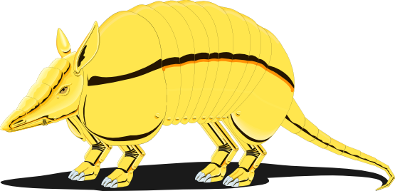 banner library library Image of coloring printable. Armadillo clipart simple.