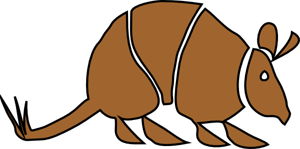 image library library Brown clip art at. Armadillo clipart simple.