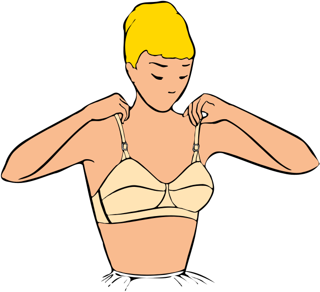 jpg library Tips for small busted. Bra clipart right arm