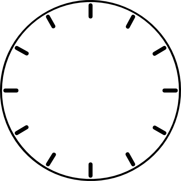 image black and white Zodiac vector clock. Face no hands clip
