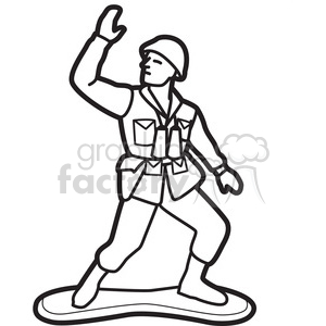 picture black and white download Toy soldier illustration graphic. Army black and white clipart